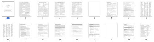 Thumbnail panels of form 518