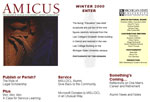 Web design for MSU Detroit College of Law Amicus publication