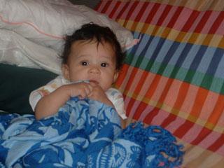 Little Eva on on the futon