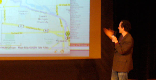 "Ed Vielmetti presenting ""Anatomy of a Bus Schedule"" at IUE2009"