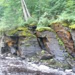 Rocks across the falls
