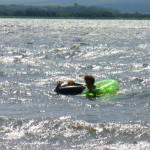 Swimmers in inner tubes