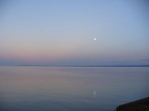 Lake Superior at dusk.